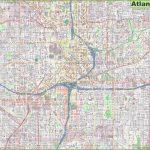 Large Detailed Street Map Of Atlanta - Printable Map Of Atlanta