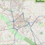 Large Detailed Street Map Of Dallas   Dallas Map Of Texas