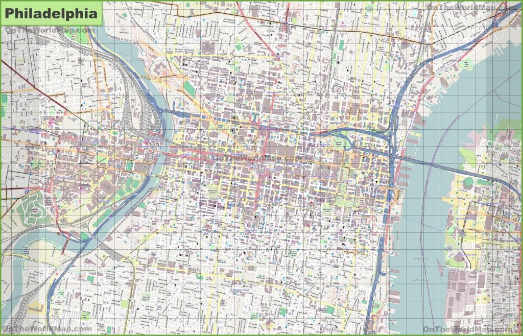 Large Detailed Street Map Of Philadelphia - Philadelphia Street Map Printable
