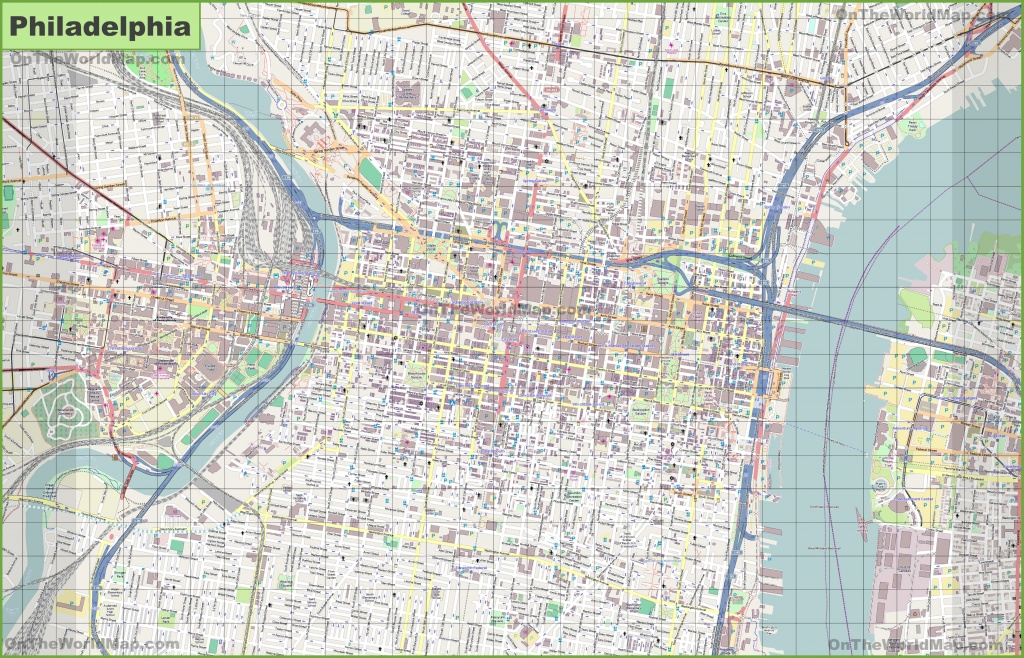 Large Detailed Street Map Of Philadelphia - Printable Street Maps