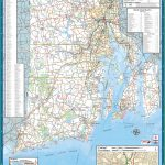 Large Detailed Tourist Map Of Rhode Island With Cities And Towns   Printable Map Of Rhode Island