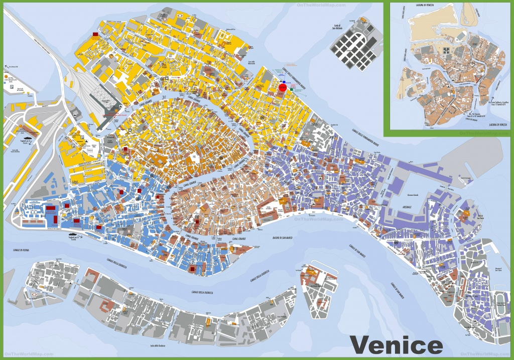 Large Detailed Tourist Map Of Venice - Printable Map Of Venice