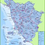 Large Detailed Travel Map Of Tuscany With Cities And Towns | Italy   Printable Map Of Tuscany
