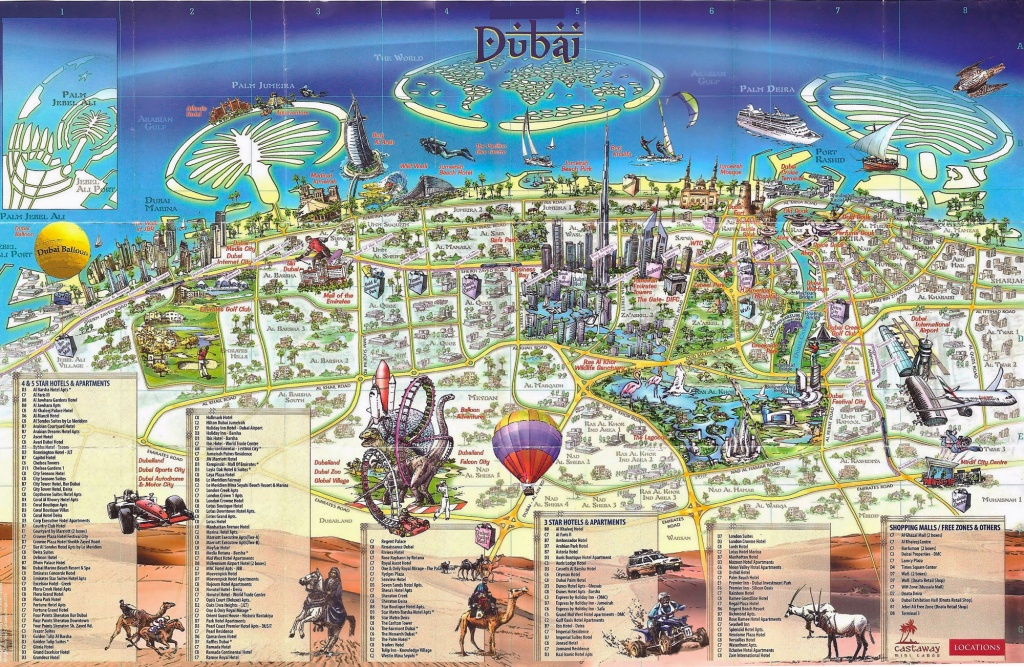 Large Dubai Maps For Free Download And Print | High-Resolution And - Printable Map Of Dubai