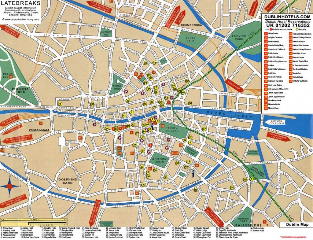 Large Dublin Maps For Free Download And Print | High-Resolution And - Dublin City Map Printable