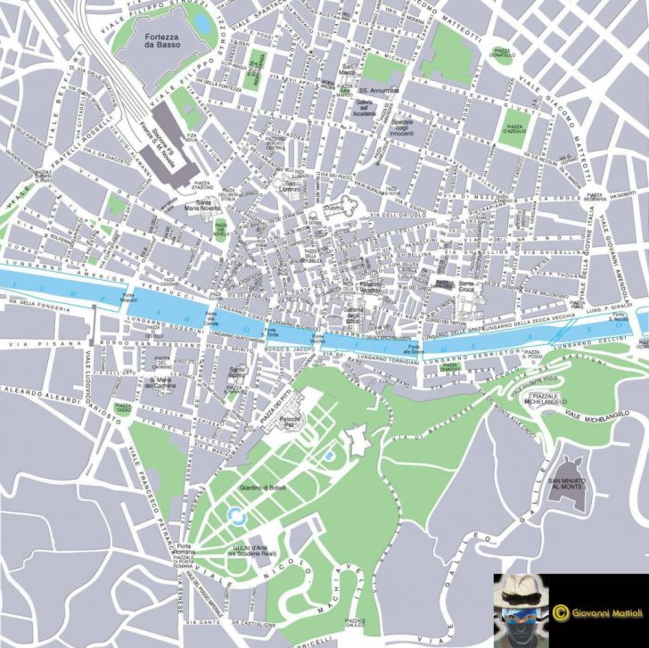 Printable Map Of Florence Italy