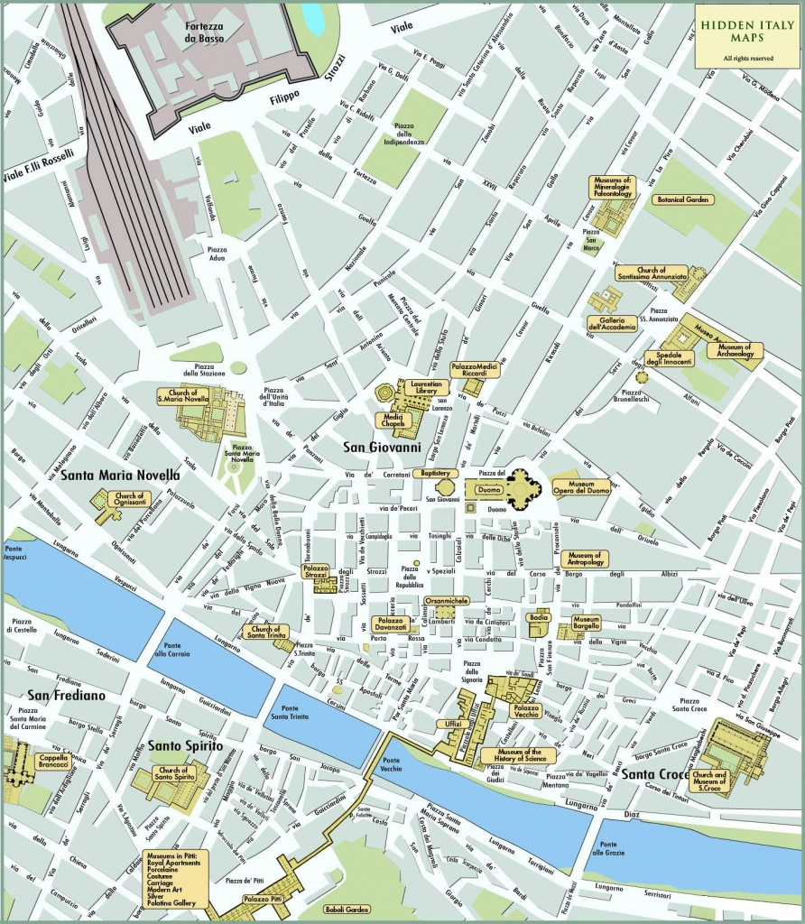 Large Florence Maps For Free Download And Print | High-Resolution - Printable Walking Map Of Florence
