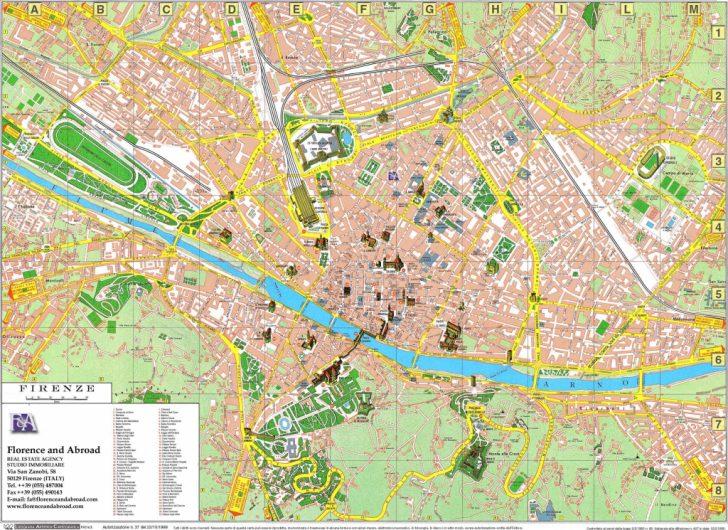 Printable Walking Map Of Florence