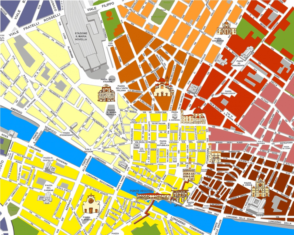 Large Florence Maps For Free Download And Print   High-Resolution - Tourist Map Of Florence Italy Printable