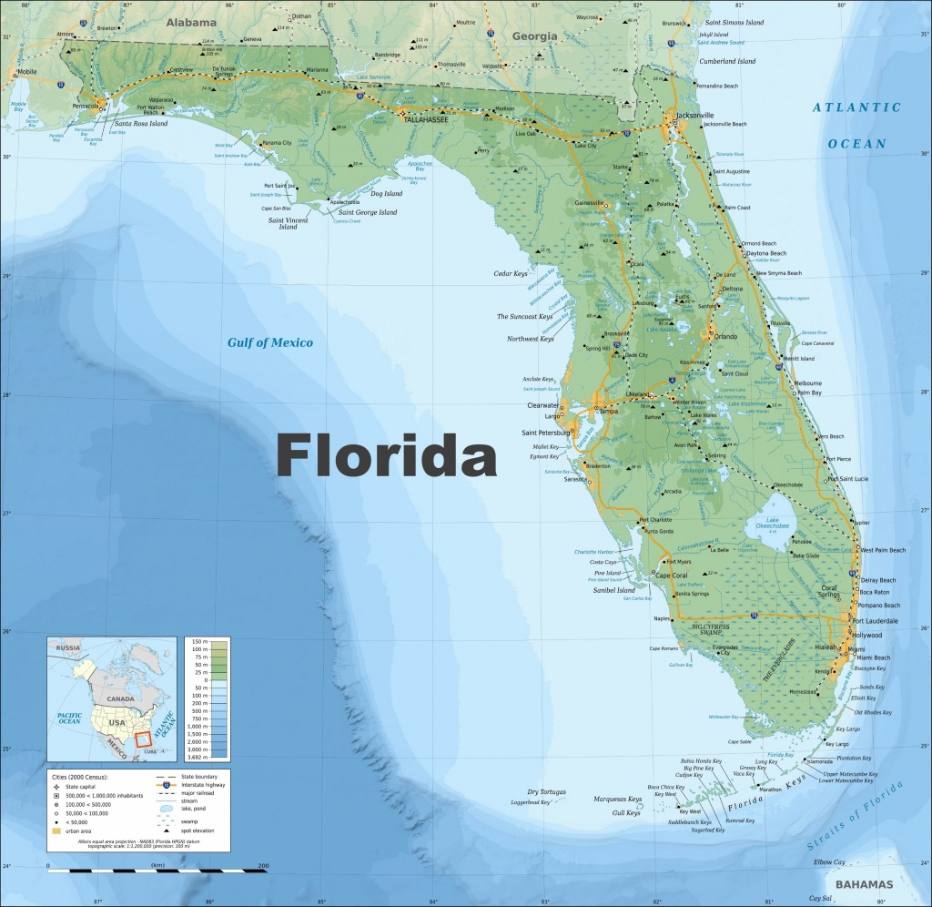 Large Florida Maps For Free Download And Print   High-Resolution And - Hollywood Beach Florida Map