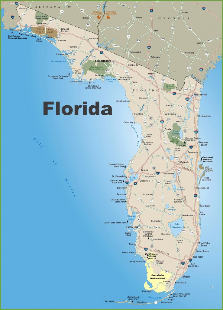 Large Florida Maps For Free Download And Print | High-Resolution And - Map Of Florida Gulf Coast Beach Towns