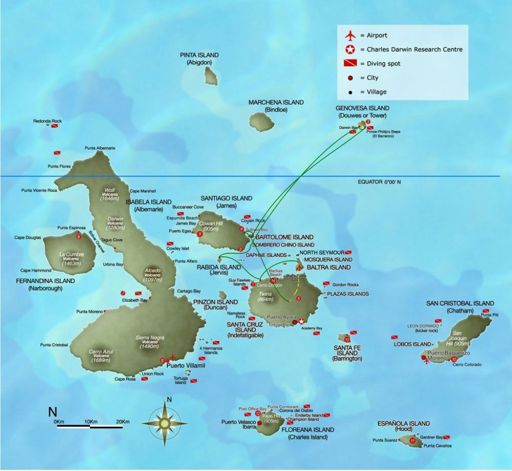 Large Galapagos Maps For Free Download And Print   High-Resolution - Printable Map Of Galapagos Islands