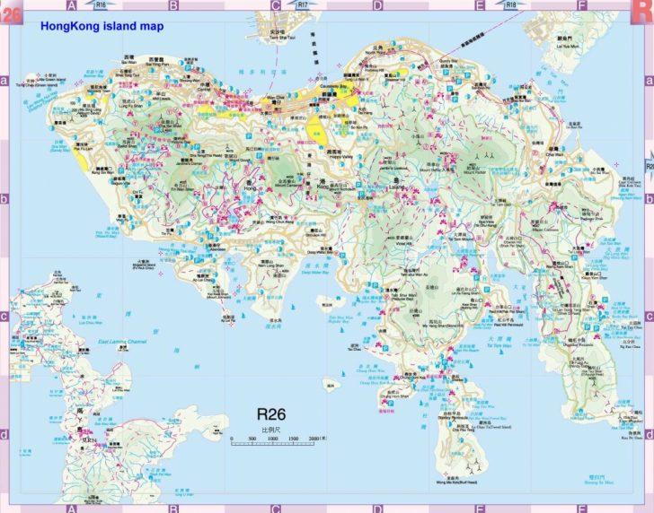 Printable Map Of Hong Kong