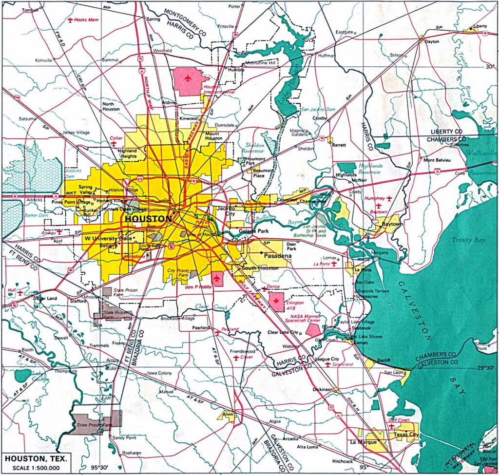 Large Houston Maps For Free Download And Print | High-Resolution And - Map To Houston Texas