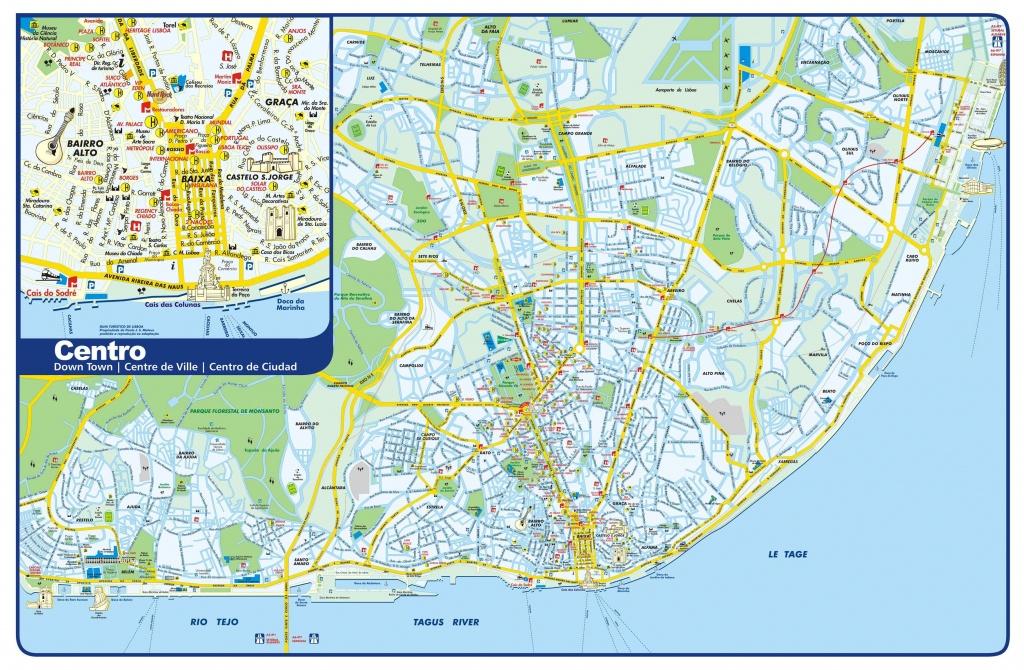 Large Lisbon Maps For Free Download And Print   High-Resolution And - Lisbon Tourist Map Printable
