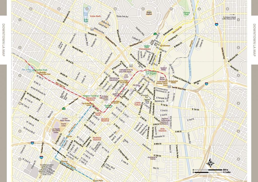 Large Los Angeles Maps For Free Download And Print | High-Resolution - Printable Map Of Los Angeles