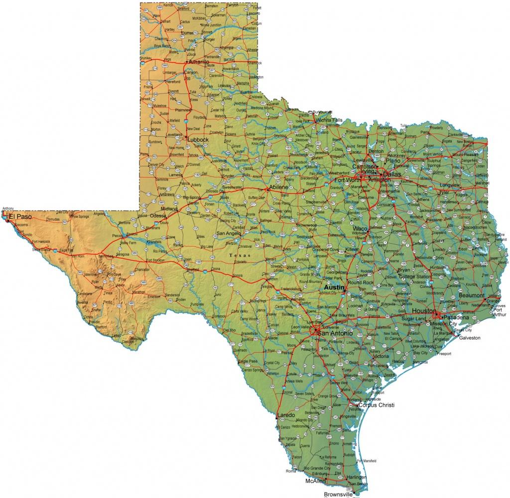 Large Map Of Texas | Woestenhoeve - Large Texas Map