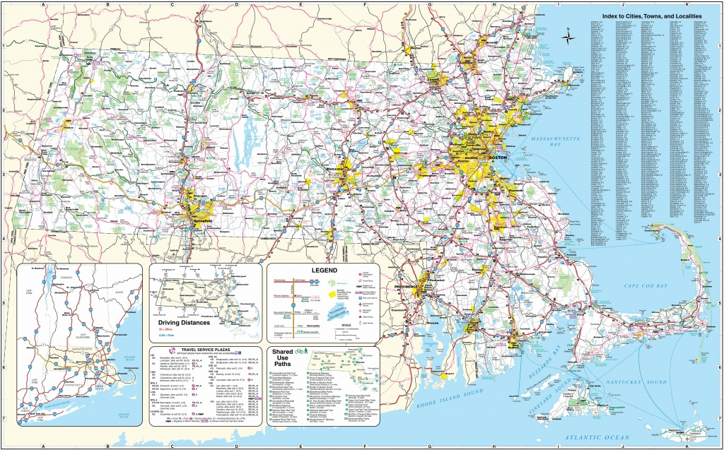 Large Massachusetts Maps For Free Download And Print | High - Printable Map Of Massachusetts
