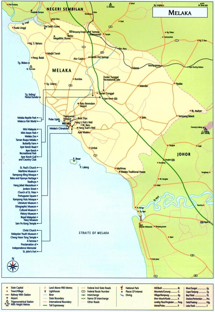 Large Melaka Maps For Free Download And Print   High-Resolution And - Melaka Tourist Map Printable