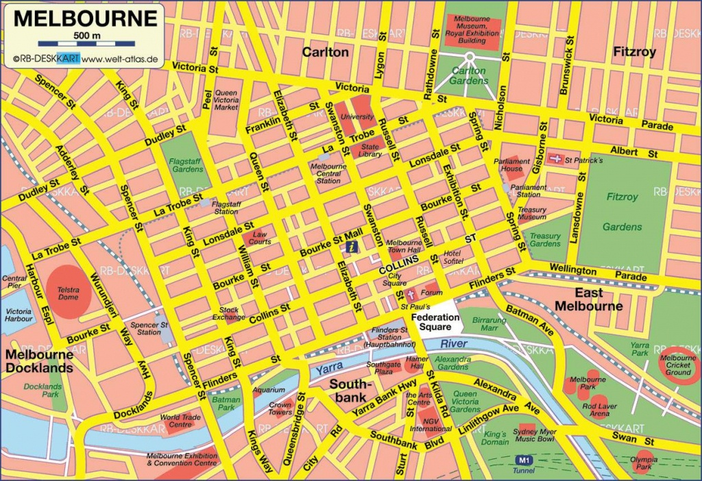 Large Melbourne Maps For Free Download And Print | High-Resolution - Melbourne Tourist Map Printable