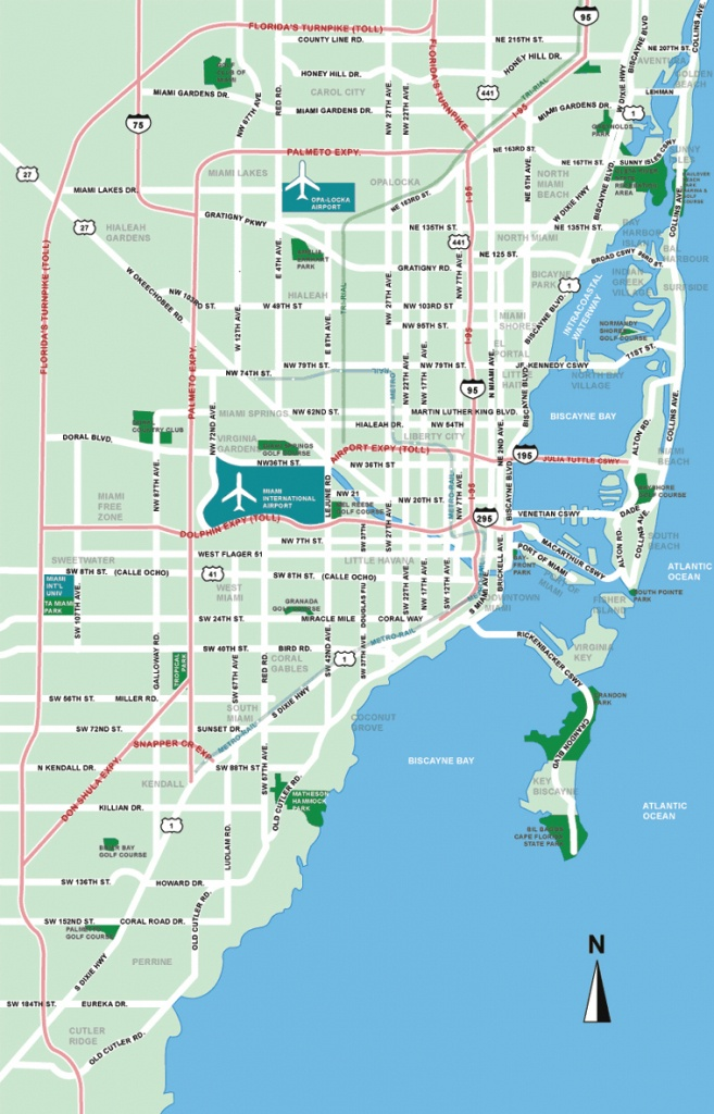 Large Miami Maps For Free Download And Print | High-Resolution And - Street Map Of Downtown Miami Florida