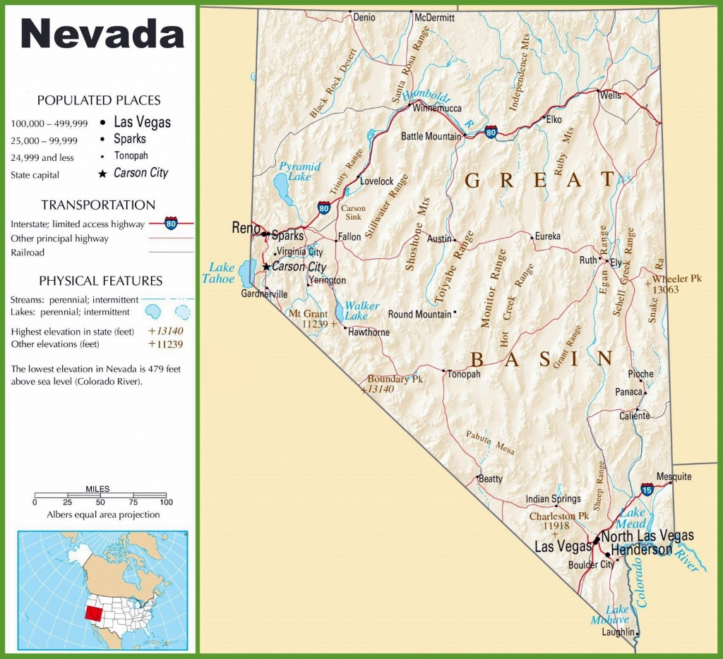 Large Nevada Maps For Free Download And Print   High-Resolution And - Printable Map Of Nevada