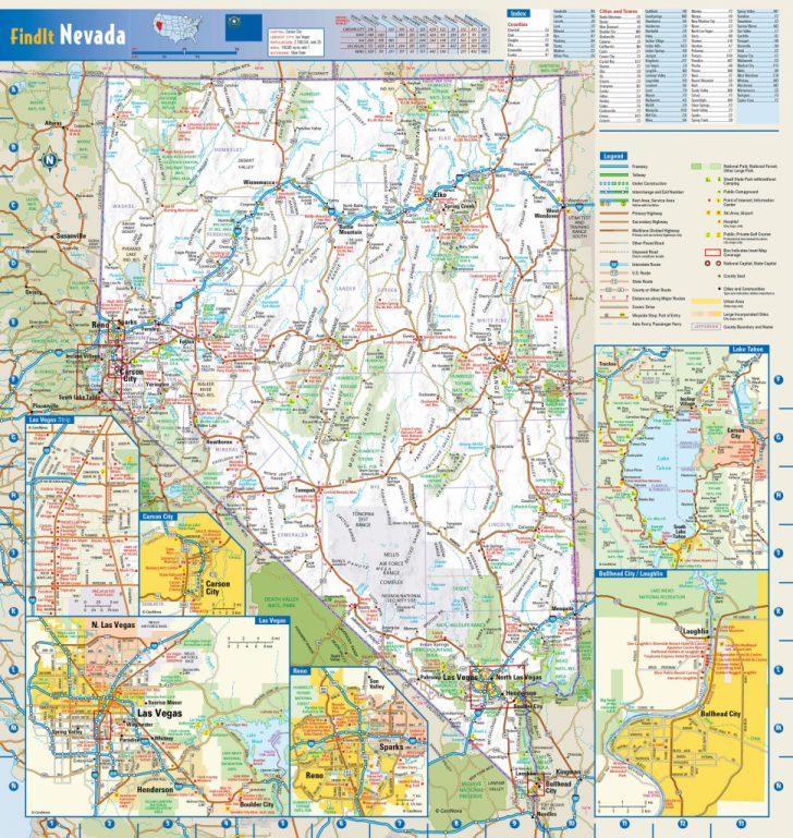 Printable Map Of Nevada
