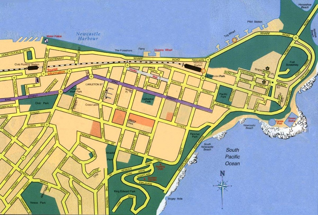 Large Newcastle Maps For Free Download And Print | High-Resolution - Printable Map Of Newcastle Nsw