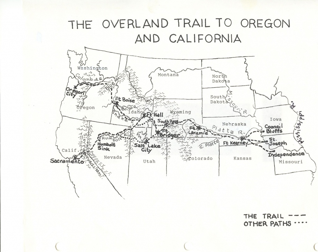 This is a picture of Exceptional Oregon Trail Map Printable