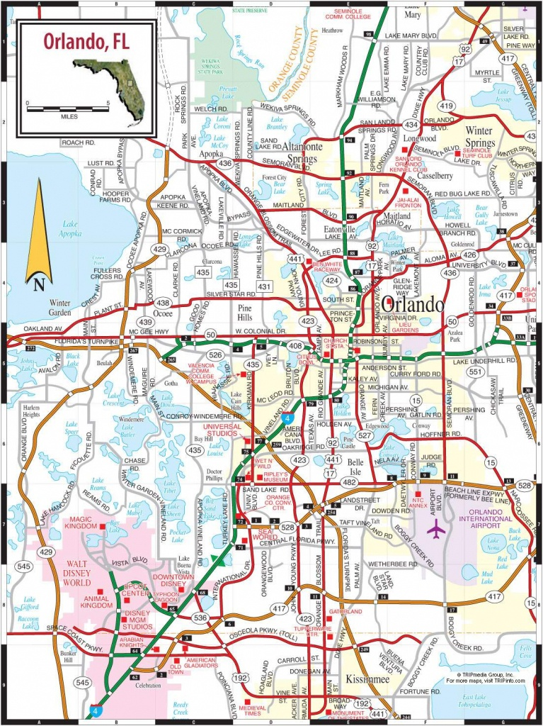 Large Orlando Maps For Free Download And Print   High-Resolution And - Map Of Florida Near Orlando