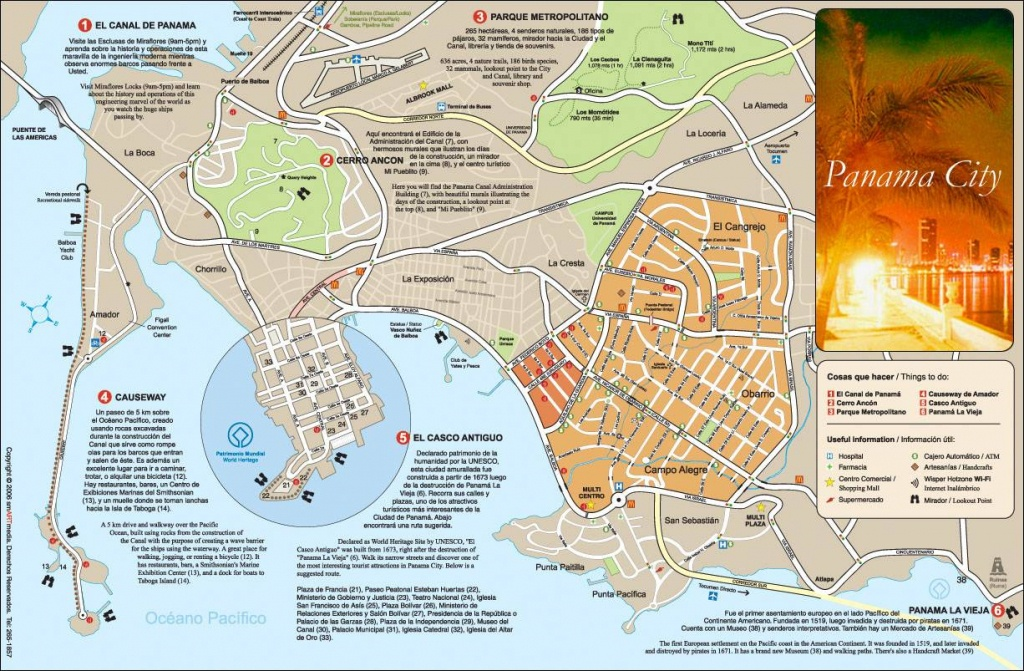 Large Panama City Maps For Free Download And Print | High-Resolution - Printable Map Of Panama