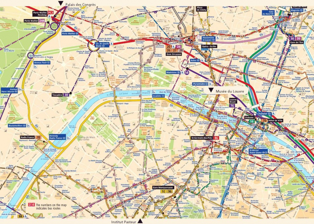 Large Paris Maps For Free Download And Print | High-Resolution And - Paris Street Map Printable