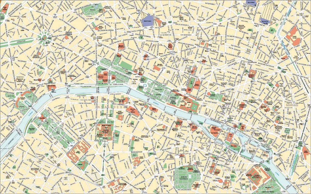 Large Paris Maps For Free Download And Print   High-Resolution And - Printable Map Of Paris Attractions