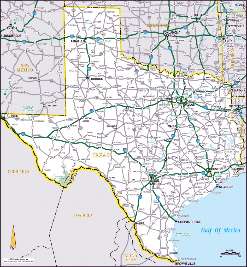 Large Roads And Highways Map Of The State Of Texas | Vidiani - Road Map Of Texas Highways