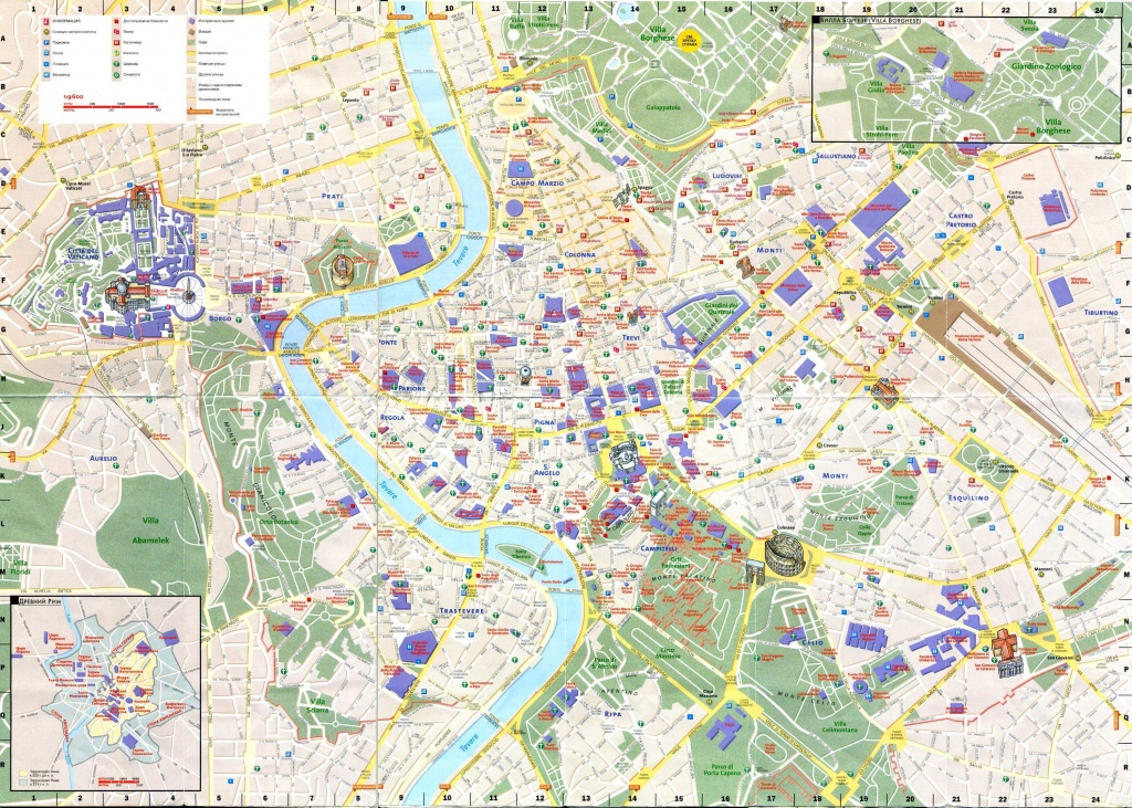 Large Rome Maps For Free Download And Print   High-Resolution And - Printable Map Of Rome Attractions