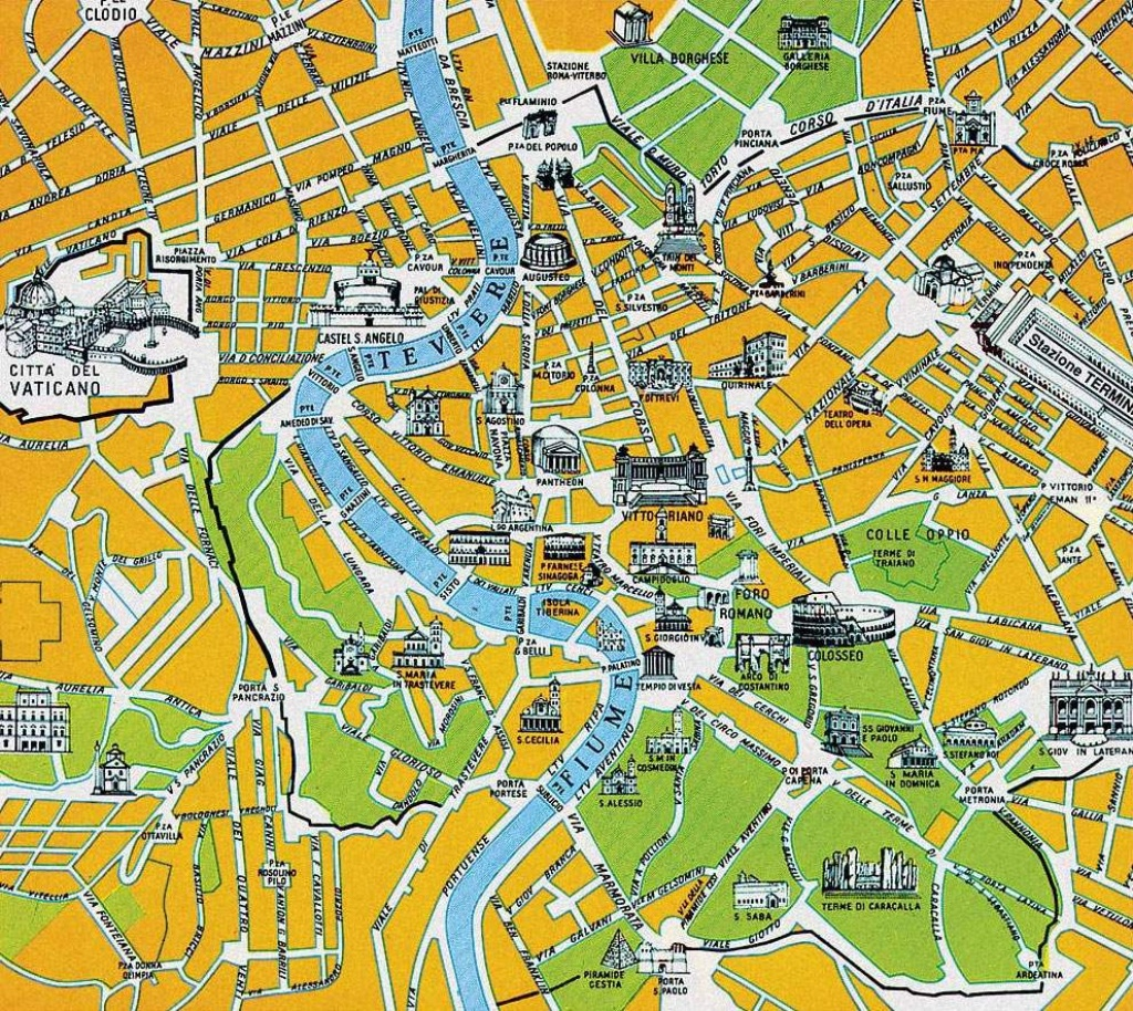 Large Rome Maps For Free Download And Print   High-Resolution And - Rome Tourist Map Printable