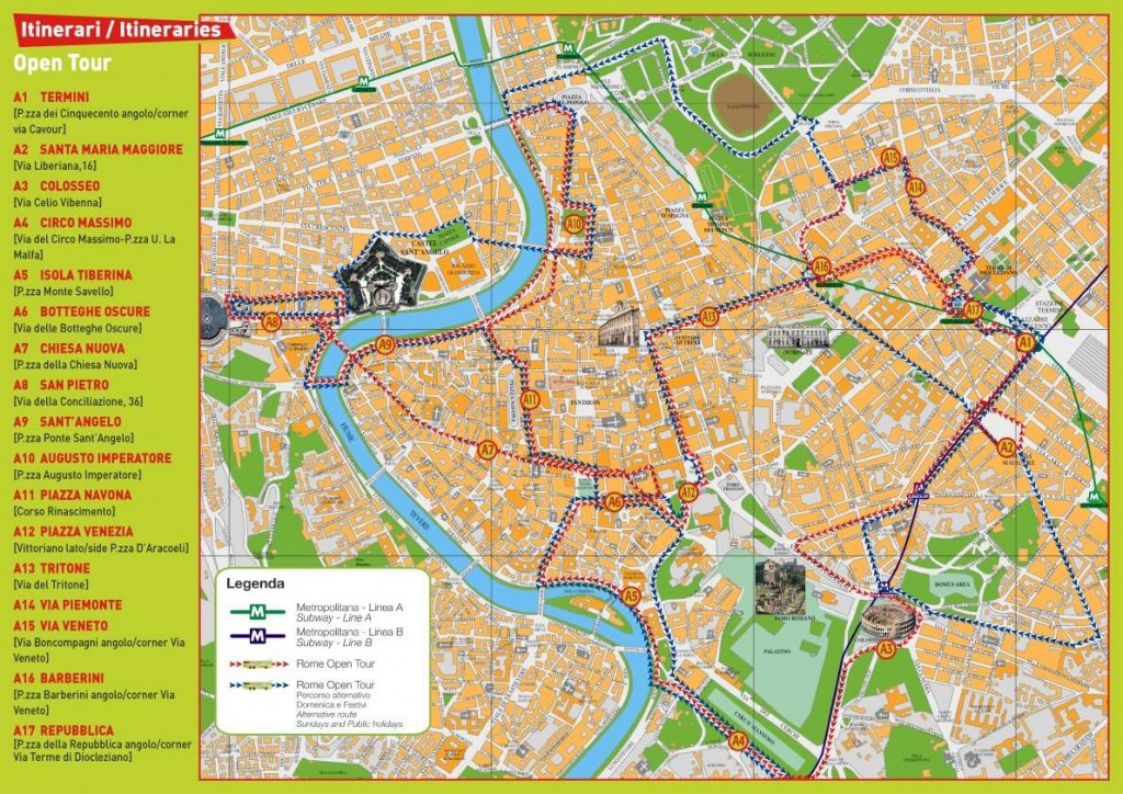 Large Rome Maps For Free Download And Print | High-Resolution And - Tourist Map Of Rome Italy Printable