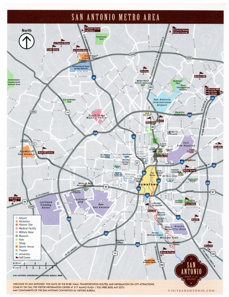 Large San Antonio Maps For Free Download And Print | High-Resolution - Map Of Downtown San Antonio Texas