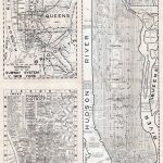 Large Scaled Printable Old Street Map Of Manhattan, New York City   Map Of Manhattan Nyc Printable
