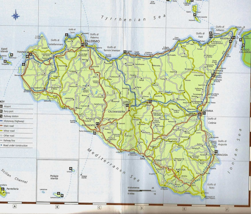 Large Sicily Maps For Free Download And Print | High-Resolution And - Printable Map Of Sicily