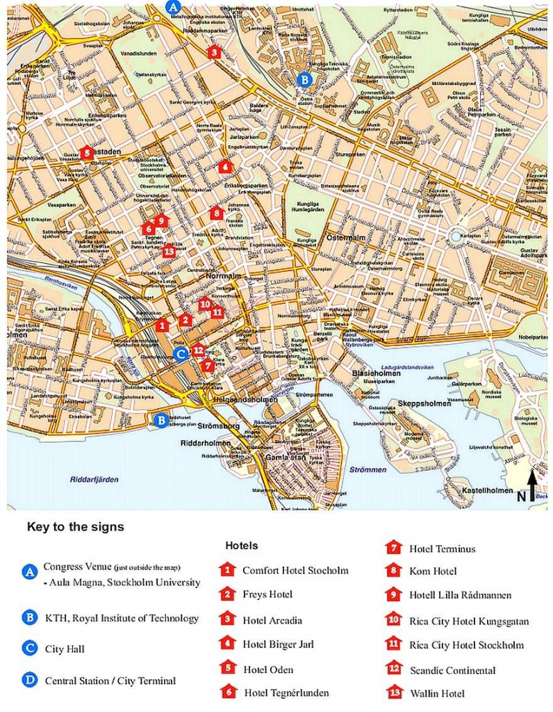 Large Stockholm Maps For Free Download And Print | High-Resolution - Stockholm Tourist Map Printable
