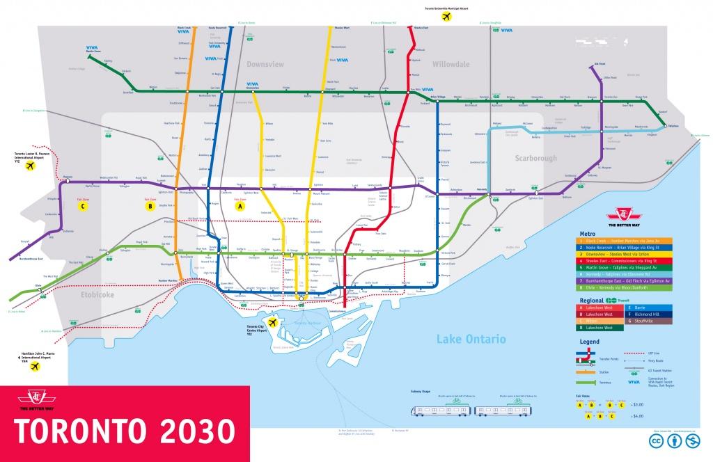 Large Subway Map Of Toronto – 2030. Toronto Large Subway Map - Toronto Subway Map Printable