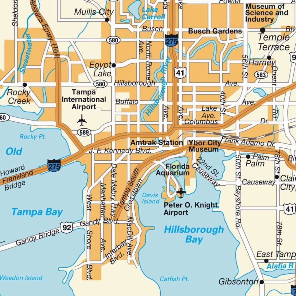 Large Tampa Maps For Free Download And Print | High-Resolution And - Map Of Tampa Florida And Surrounding Area
