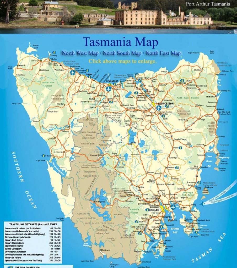 Large Tasmania Maps For Free Download And Print | High-Resolution - Printable Map Of Tasmania
