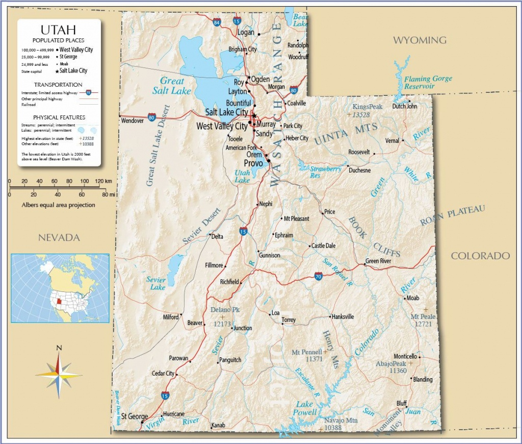 Large Utah Maps For Free Download And Print | High-Resolution And - Printable Map Of Utah