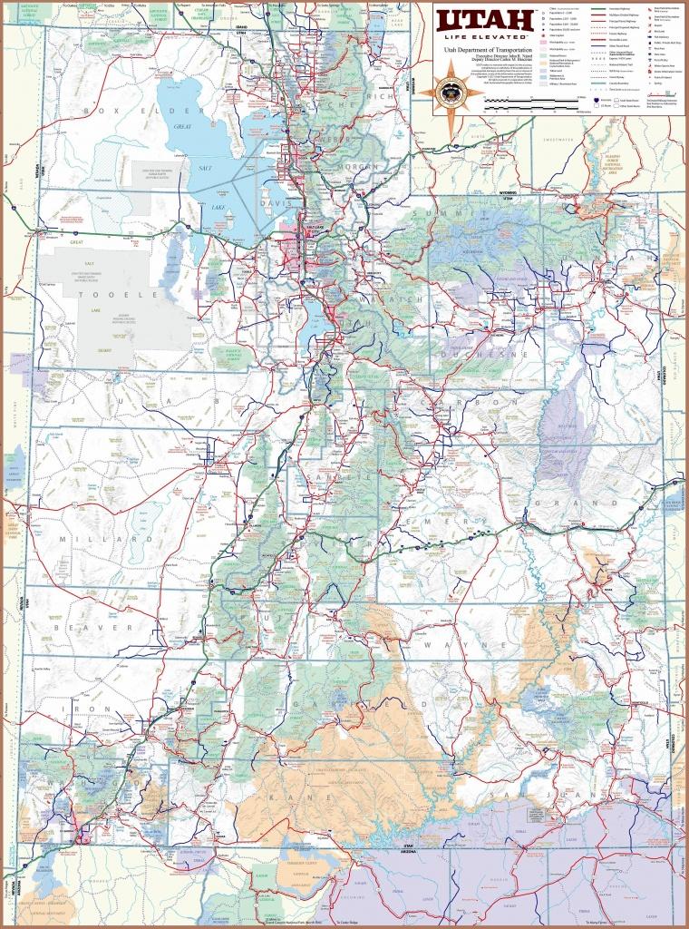 Large Utah Maps For Free Download And Print   High-Resolution And - Printable Map Of Utah
