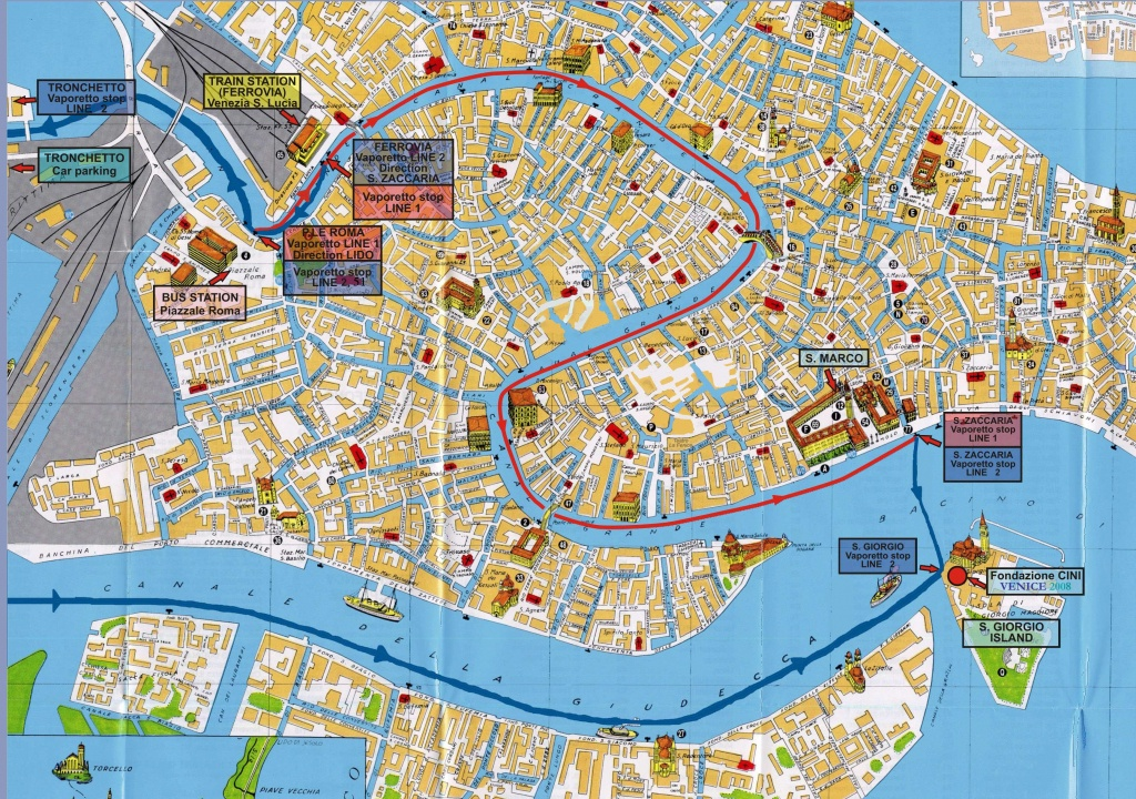 Large Venice Maps For Free Download And Print   High-Resolution And - Venice City Map Printable