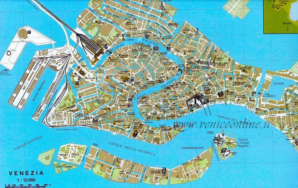Large Venice Maps For Free Download And Print   High-Resolution And - Venice Street Map Printable