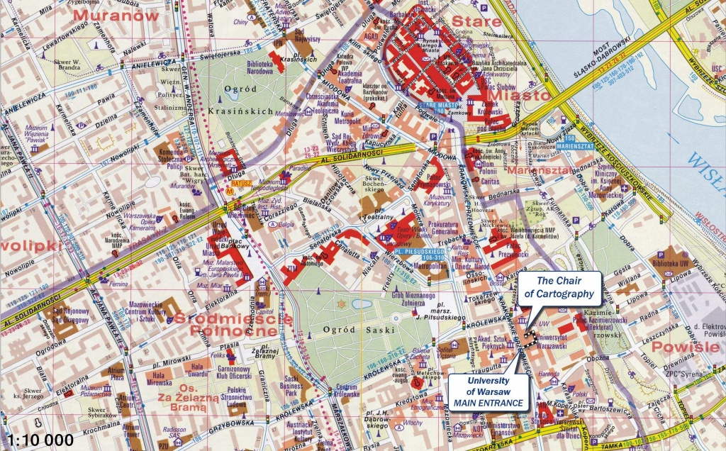 Large Warsaw Maps For Free Download And Print   High-Resolution And - Warsaw Tourist Map Printable