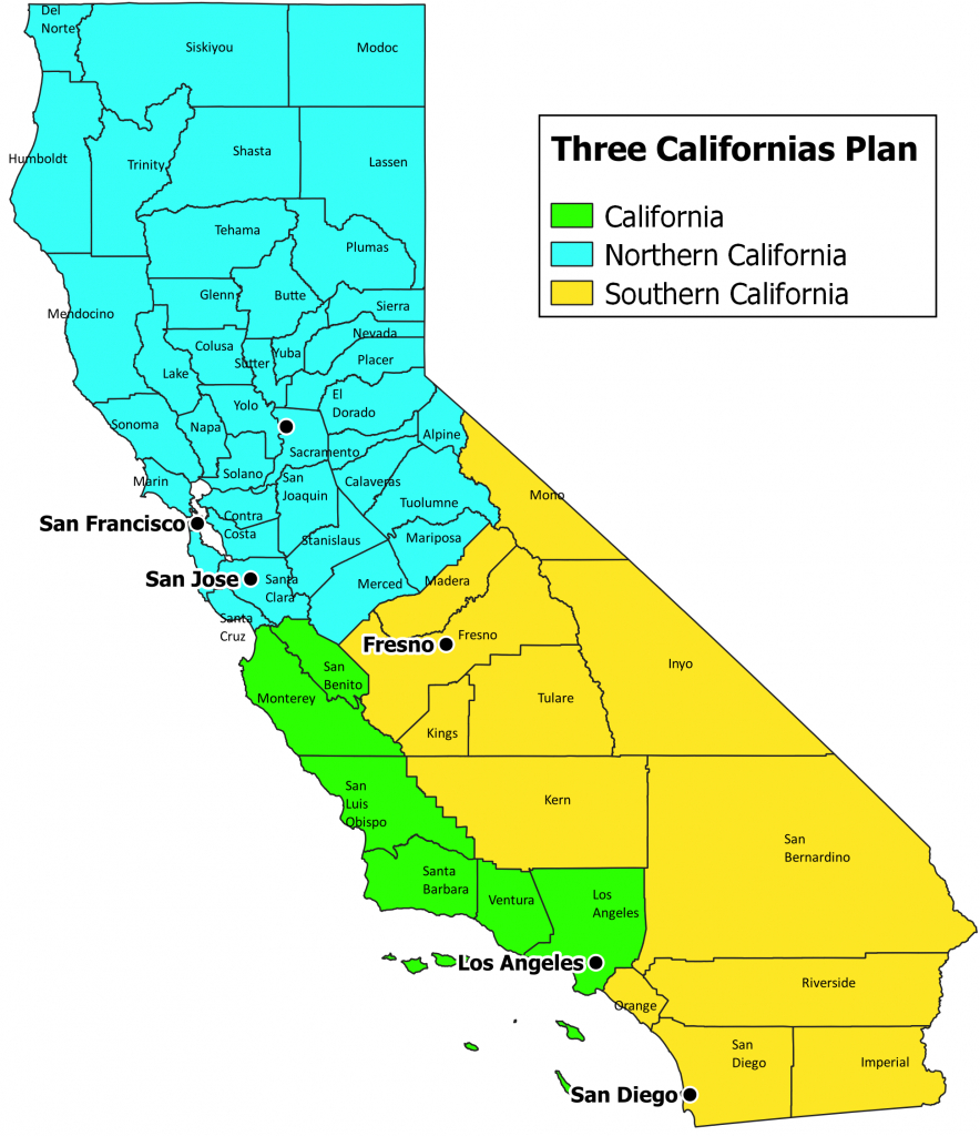 Larry J. Sabato's Crystal Ball » California Dreamin': Carving The - Three State California Map